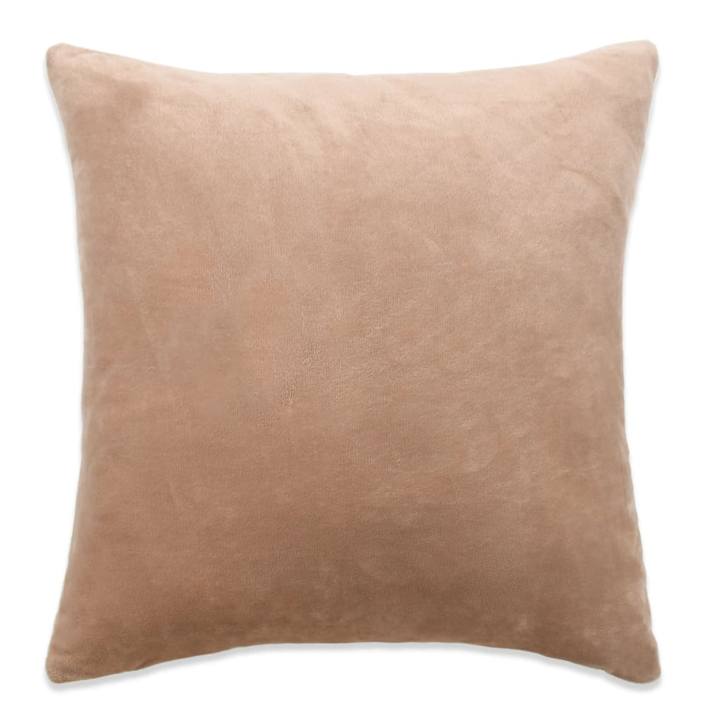 vidaXL Povlaky na polštář 4 ks velur, 80 x 80 cm, béžové