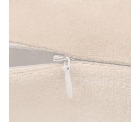 vidaXL Set jastuka od velura 2 kom 45x45 cm sivkastobijeli[5/5]