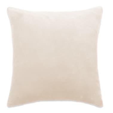 vidaXL Jastučnice od velura 4 kom 40x40 cm sivkastobijele[2/5]