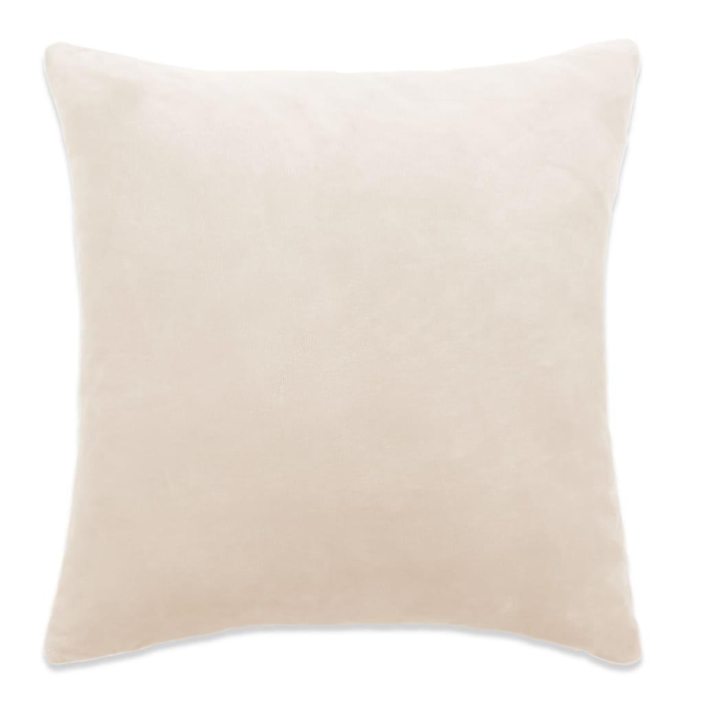vidalXL Povlaky na polštář 4 ks velur 50 x 50 cm našedlé