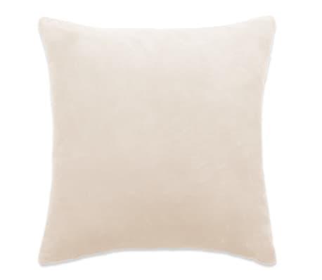 vidaXL Jastučnice od velura 4 kom 50x50 cm sivkastobijele[2/5]