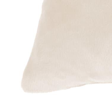vidaXL Housse de coussin 4 pcs Velours 50 x 50 cm Blanc cassé[3/5]