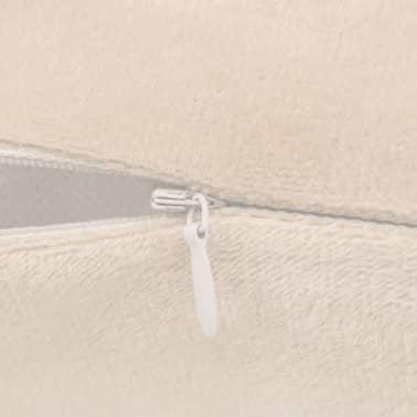 vidaXL Housse de coussin 4 pcs Velours 50 x 50 cm Blanc cassé[5/5]