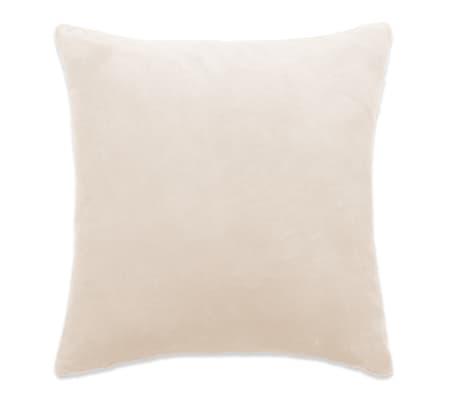 vidaXL Jastučnice od velura 4 kom 80x80 cm sivkastobijele[2/5]