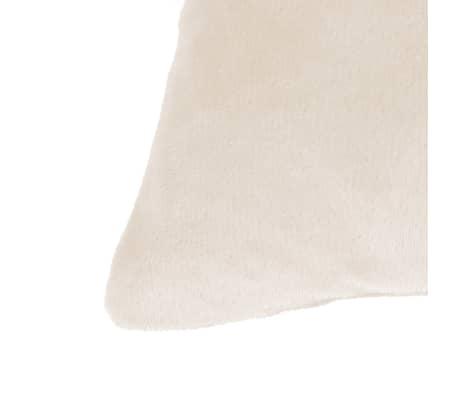 vidaXL Jastučnice od velura 4 kom 80x80 cm sivkastobijele[3/5]