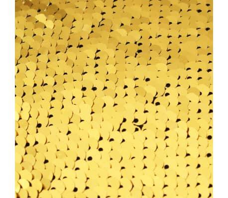 vidaXL Kissen-Set mit Pailletten 2 Stk. 60 x 60 cm Golden und Silbern[5/5]