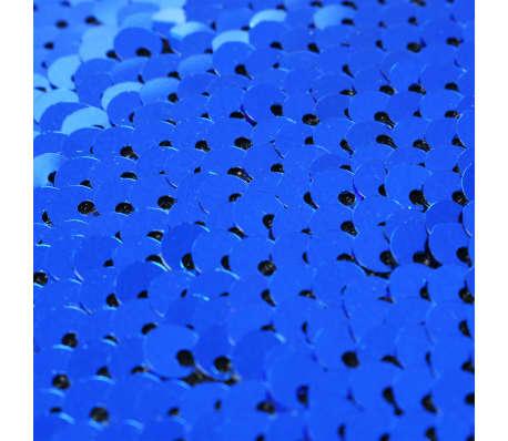 vidaXL Kuddar med paljetter 2 st 45x45 cm blå och silver[5/5]