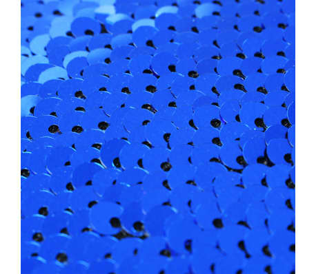 vidaXL Kissen-Set mit Pailletten 2 Stk. 60 x 60 cm Blau und Silbern[5/5]