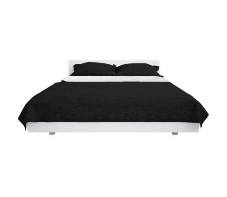 vidaXL Överkast dubbelsidigt 220x240 cm svart och vit[2/4]