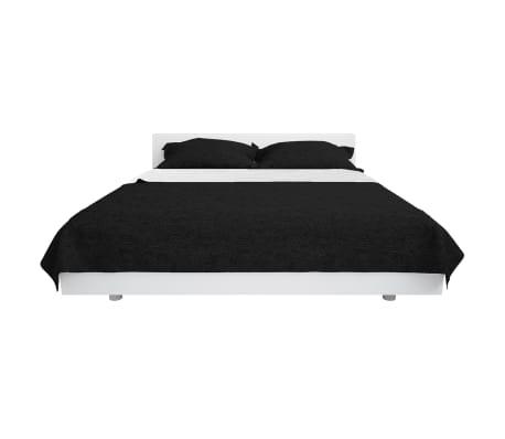 vidaXL Överkast dubbelsidigt 230x260 cm svart och vit[2/4]