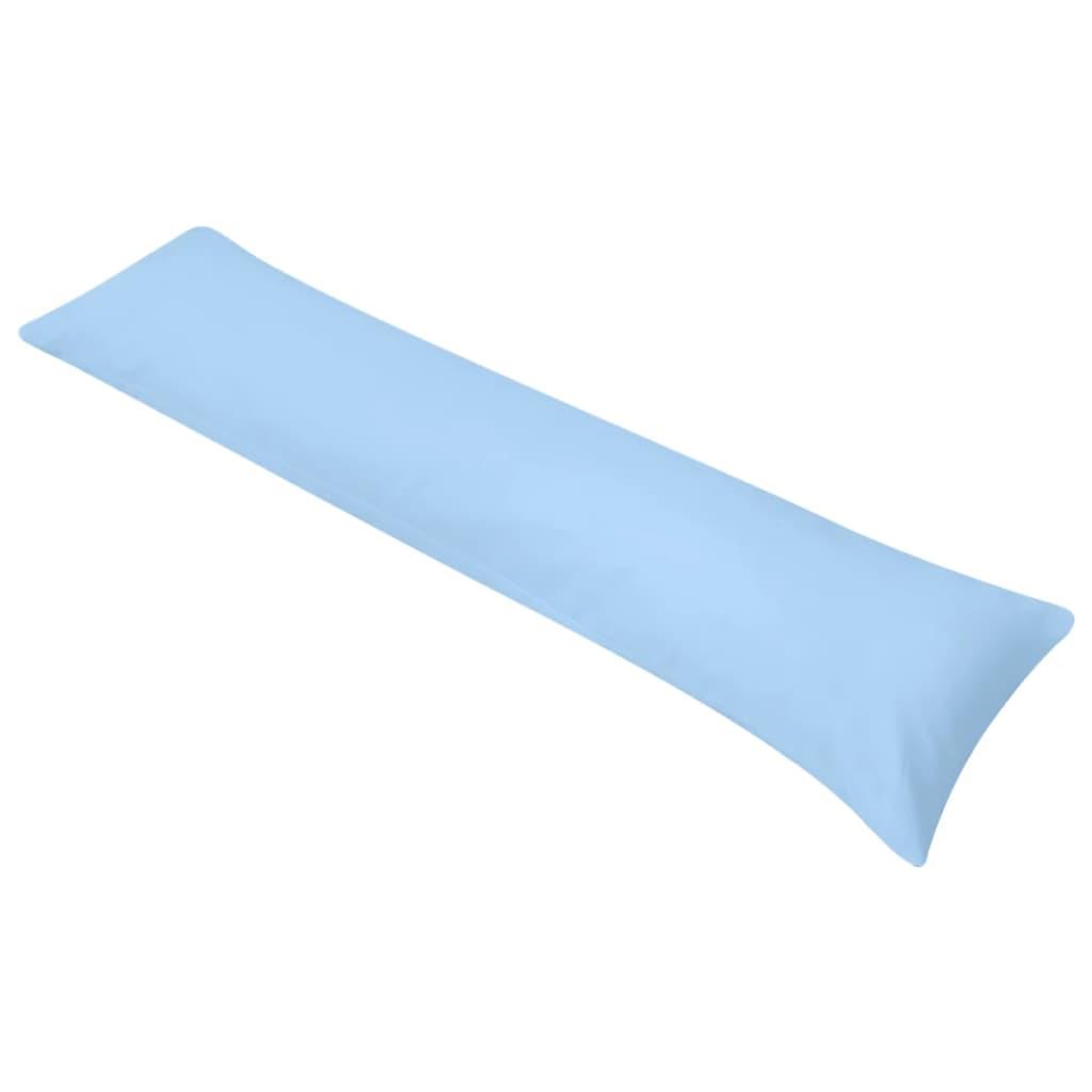 vidaXL Pernă laterală de corp pentru dormit, 40 x 145 cm, albastru poza 2021 vidaXL