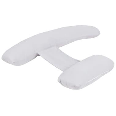 vidaXL Coussin de grossesse en forme de H 80 x 140 cm Gris[2/4]