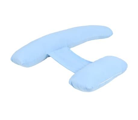 vidaXL Coussin de grossesse en forme de H 80 x 140 cm Bleu[2/4]