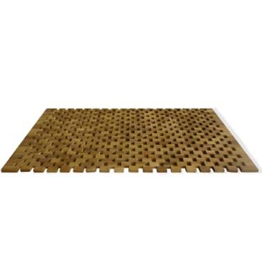 vidaXL Badmat 80x50 cm acaciahout mozaïek[3/5]