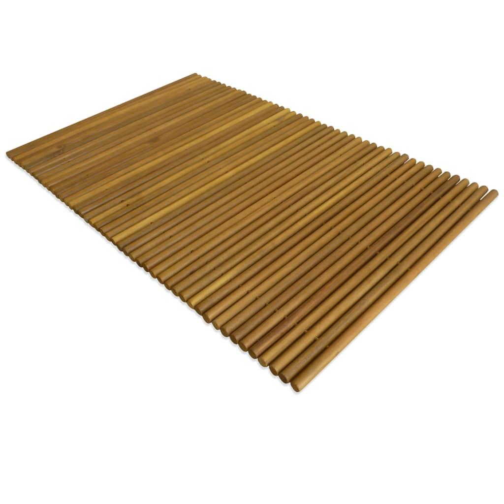 Koupelnová předložka akáciové dřevo 80x50 cm