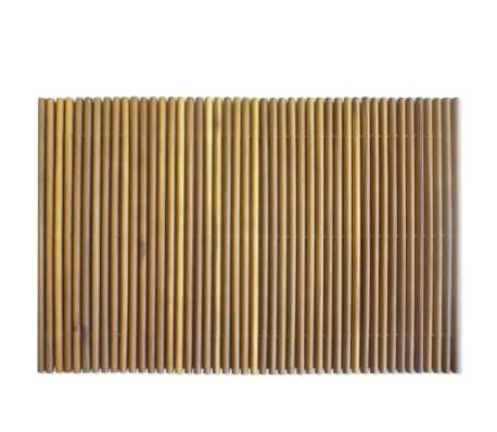 vidaXL Tapis de salle de bain Bois d'acacia 80 x 50 cm[3/5]