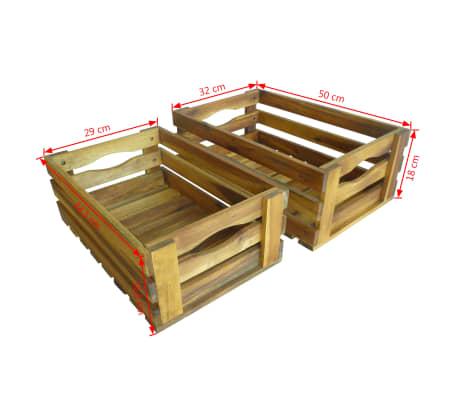 acheter vidaxl caisse pommes 2 pcs bois d 39 acacia massif pas cher. Black Bedroom Furniture Sets. Home Design Ideas