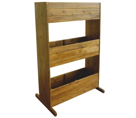 vidaXL 3-Tier Garden Raised Bed Solid Acacia Wood