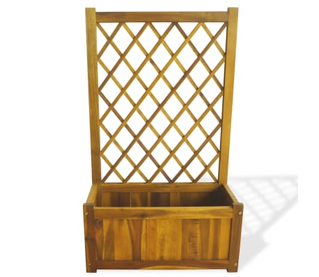 vidaXL Garden Planter with Trellis Solid Acacia Wood[2/7]