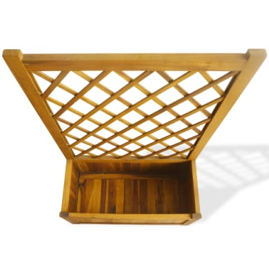 vidaXL Garden Planter with Trellis Solid Acacia Wood[3/7]