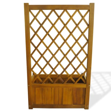 vidaXL Garden Planter with Trellis Solid Acacia Wood[4/7]