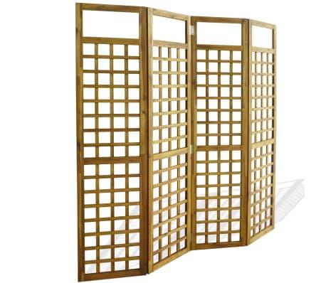 vidaXL 4-panelni delilnik prostora / mreža iz lesa akacije 160x170 cm
