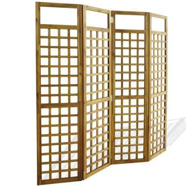 vidaXL Kambario Pertvara/treliažas, 4d., akacijos mediena, 160x170cm[1/7]