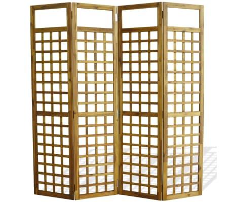 vidaXL Kambario Pertvara/treliažas, 4d., akacijos mediena, 160x170cm[2/7]