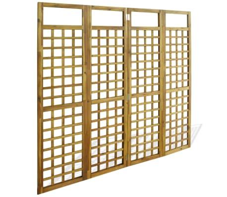 vidaXL Kambario Pertvara/treliažas, 4d., akacijos mediena, 160x170cm[3/7]