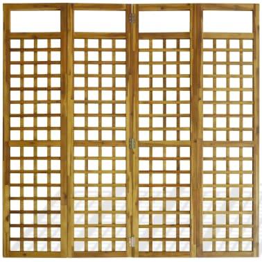 vidaXL Kambario Pertvara/treliažas, 4d., akacijos mediena, 160x170cm[4/7]