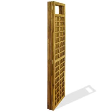 vidaXL Kambario Pertvara/treliažas, 4d., akacijos mediena, 160x170cm[5/7]