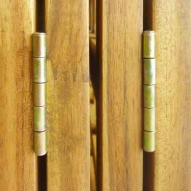 vidaXL Kambario Pertvara/treliažas, 4d., akacijos mediena, 160x170cm[6/7]