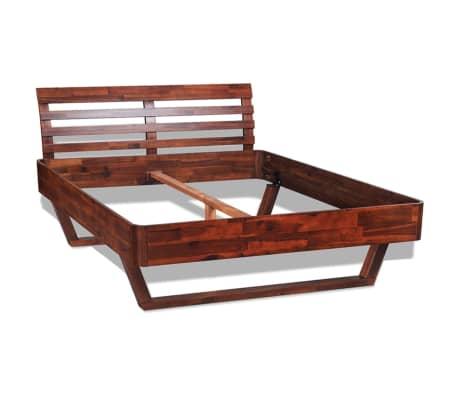 vidaXL Cadru de pat, 140 x 200 cm, lemn masiv de acacia[2/11]