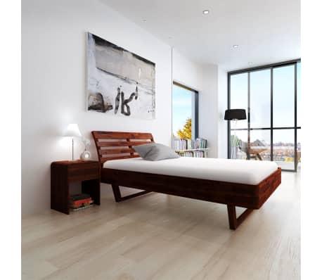 vidaXL Cadru de pat, 140 x 200 cm, lemn masiv de acacia[3/11]