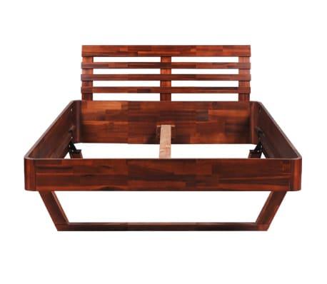 vidaXL Cadru de pat, 140 x 200 cm, lemn masiv de acacia[5/11]