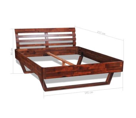 vidaXL Cadru de pat, 140 x 200 cm, lemn masiv de acacia[11/11]