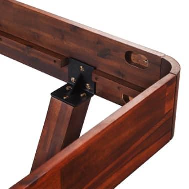 vidaXL Cadru de pat, 140 x 200 cm, lemn masiv de acacia[7/11]