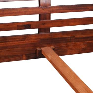 vidaXL Cadru de pat, 140 x 200 cm, lemn masiv de acacia[8/11]