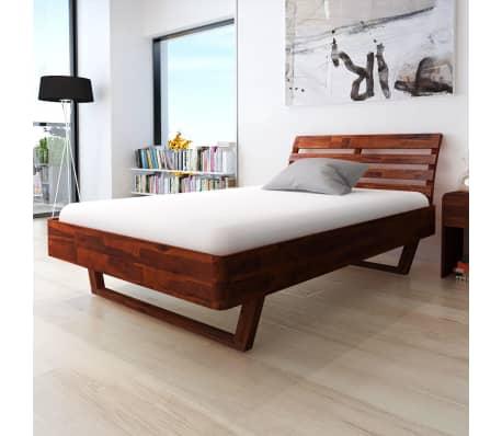 vidaXL Cadru de pat, 140 x 200 cm, lemn masiv de acacia[1/11]