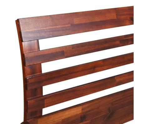 vidaXL Cadru de pat, 180 x 200 cm, lemn masiv de acacia[6/11]