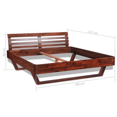 vidaXL Cadru de pat, 180 x 200 cm, lemn masiv de acacia[11/11]