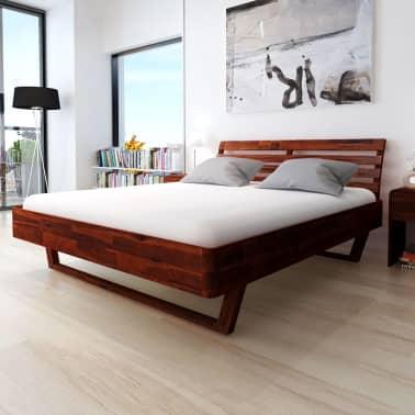 vidaXL Cadru de pat, 180 x 200 cm, lemn masiv de acacia[1/11]