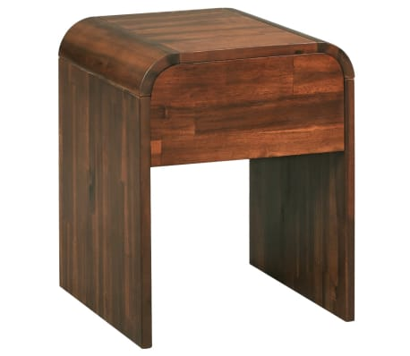 vidaXL Table de chevet 41,5 x 42 x 52 cm Bois d'acacia solide[2/6]