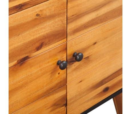 vidaXL Šoninė spintelė, tvirta akacijos medienos, 90x33,5x83 cm[6/7]