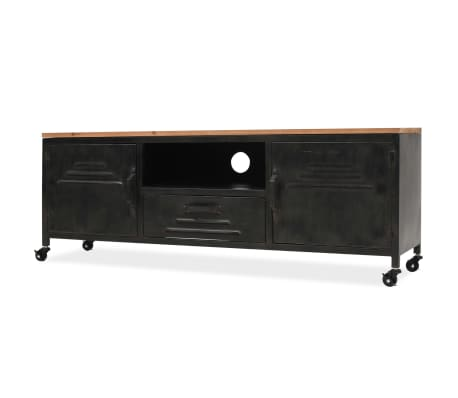 vidaXL TV Cabinet 120x30x43 cm Black