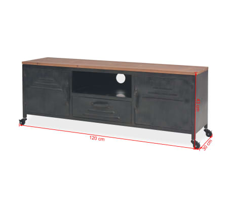 vidaXL Tv-meubel 120x30x43 cm zwart[11/11]