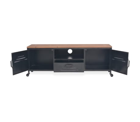 vidaXL Mueble para la televisión negro 120x30x43 cm[5/11]