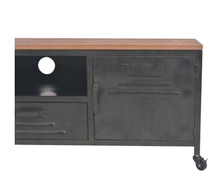 vidaXL Mueble para la televisión negro 120x30x43 cm[6/11]