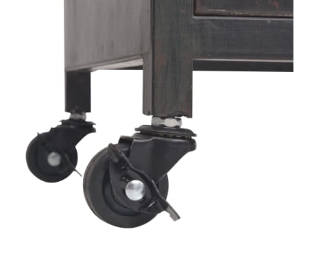 vidaXL TV omarica 120x30x43 cm črne barve[9/11]