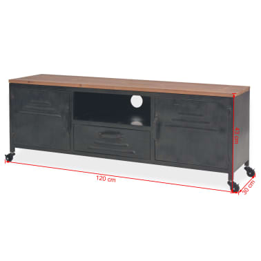 vidaXL Mueble para la televisión negro 120x30x43 cm[11/11]